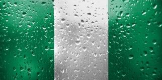 Beschaffenheit von Nigeria-Flagge lizenzfreie stockbilder