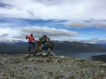 Beschaffenheit von Norwegen Lizenzfreies Stockbild