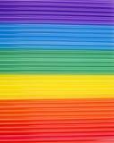 Beschaffenheit von Regenbogenrührstäbchen horizontale Streifen des Regenbogens Lizenzfreie Stockfotografie