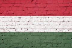 Beschaffenheit von Ungarn-Flagge vektor abbildung