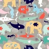 Beschaffenheit von verschiedenen wilden Tieren lizenzfreie abbildung