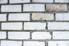 Beschaffenheit von weißen und grauen Ziegelsteinen stockfotografie