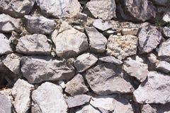 Beschaffenheit, Wandbeschaffenheit, Trockenmauer, Steinbeschaffenheit Lizenzfreies Stockfoto