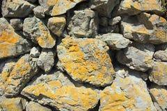 Beschaffenheit, Wandbeschaffenheit, Trockenmauer, Steinbeschaffenheit Lizenzfreie Stockbilder