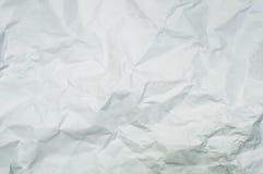 Beschaffenheit zerknittertes Weißbuch Lizenzfreies Stockbild