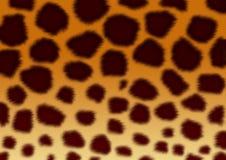 Beschaffenheiten - eine flaumige Haut eines Leoparden stock abbildung