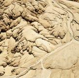 Beschaffenheiten im Sand stockfoto
