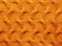 Beschaffenheiten - Kabel Knit-Material Stockfotografie