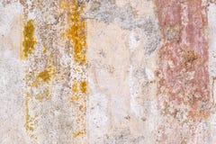 Beschaffenheiten von den Farbwänden von alten Pompeji-Ruinen Lizenzfreies Stockfoto