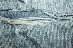 Beschaffenheiten von Jeans Stockfotos