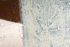 Beschaffenheitsölgemälde Hintergrund der abstrakten Kunst Schmieröl auf Segeltuch Raue Pinselstriche der Farbe Lizenzfreie Stockfotos