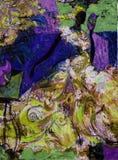 Beschaffenheitsölgemälde schreiben Sie Roman Nogin, Reihe ` Frauen ` s Gespräch `, Autor ` s Version der Farbe lizenzfreie stockbilder