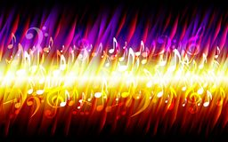 Beschaffenheits-Hintergrundrahmen des abstrakten Blattgrungemusikfeuers brennender stock abbildung