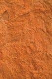 Beschaffenheits-Makronahaufnahme des roten Backsteins, alte ausführliche raue Schmutzbeschaffenheit Stockfoto