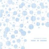 Beschaffenheits-Rahmenecke der blauen Moleküle testile Lizenzfreies Stockfoto