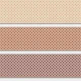 Beschaffenheitscheck und Quadrat, sechs Stockbilder