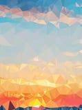 Beschaffenheitsdreieckgeometrie des Hintergrundes schöne Naturlandschaft der modernen Stockbild
