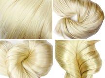 Beschaffenheitshintergrund des blonden Haares Lizenzfreies Stockfoto