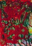 BESCHAFFENHEITShintergrund des bunten kosmischen Aquarells der Zusammenfassung Acryl stock abbildung