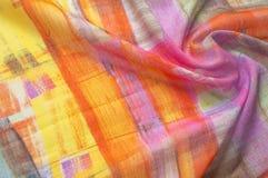 Beschaffenheitshintergrundmuster Silk dünnes Gewebe, abstraktes Muster O Stockfotos