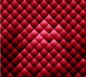 Beschaffenheitsmassenpolsterungsgewebe mit den Knöpfen rot Stockbilder