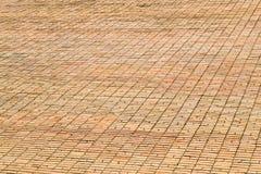 Beschaffenheitsmaurerarbeit Große Wand des gelben Ziegelsteines Lizenzfreie Stockfotografie