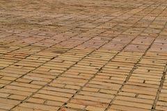 Beschaffenheitsmaurerarbeit Große Wand des gelben Ziegelsteines Lizenzfreies Stockfoto