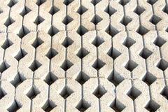 Beschaffenheitsmuster des Beton gepflasterten Bodens Stockbild