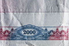 Beschaffenheitspapier, Papiergeldfragment Lizenzfreies Stockbild