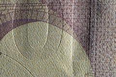 Beschaffenheitspapier, Papiergeldfragment Stockfotografie