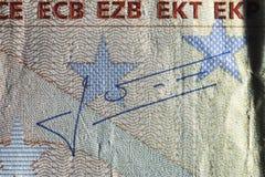 Beschaffenheitspapier, Papiergeldfragment Stockbild