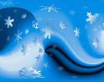 Beschaffenheitsschnee. Schneeflocken Stockfoto