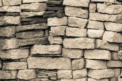 Beschaffenheitssteinbacksteinmauer Lizenzfreies Stockbild