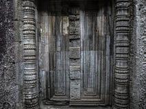 Beschaffenheitswand von Angkor Wat stockbild