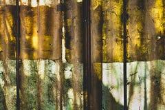 Beschattet Abstraktion auf Polycarbonatsplatte Stockbild