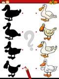 Beschattet Spiel mit Ente Stockfotografie
