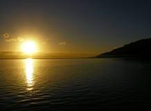 Beschatteter Sonnenuntergang Lizenzfreies Stockbild