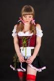 Bescheidene sexy Frau Oktoberfest Stockbild