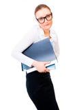 Bescheidene und intelligente Geschäftsfrau lizenzfreie stockfotografie