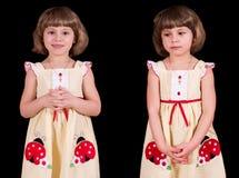 Bescheidenes kleines Mädchen lizenzfreie stockfotos