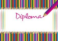 Bescheinigung/Diplom stockfoto