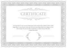 bescheinigung Schablonendiplom-Währungsgrenze vektor abbildung