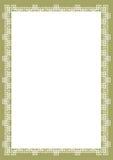 Bescheinigungs-Rand Lizenzfreie Stockbilder