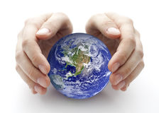 Bescherm de Aarde stock foto