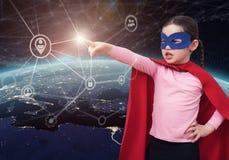 Bescherm de persoonsgegevens in de wereld 3D teruggevende elementen van dit die beeld door NASA wordt geleverd Stock Foto
