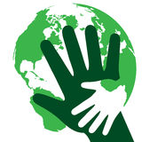 Bescherm environment.eps royalty-vrije illustratie
