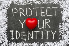 Bescherm identiteit royalty-vrije stock afbeelding