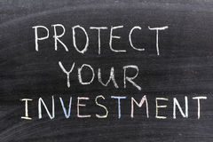 Bescherm investering stock foto's