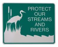 Bescherm onze stromen en rivieren Stock Afbeelding
