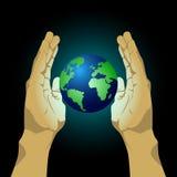 Bescherm samen de aarde Royalty-vrije Stock Afbeelding